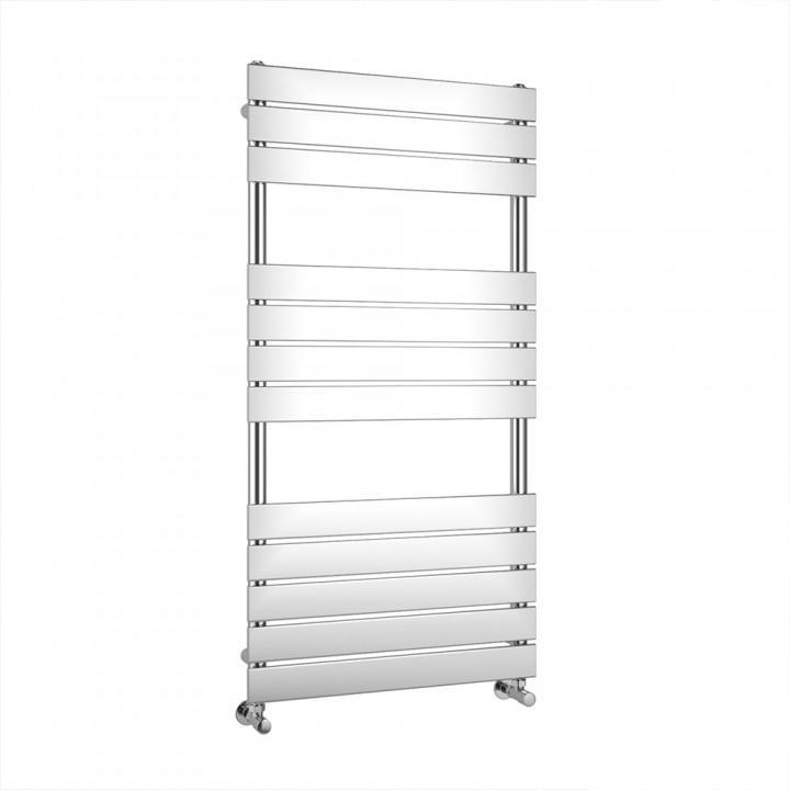 Chrome Flat Panel Heated Towel Rail 1200 X 600mm - ABS2077