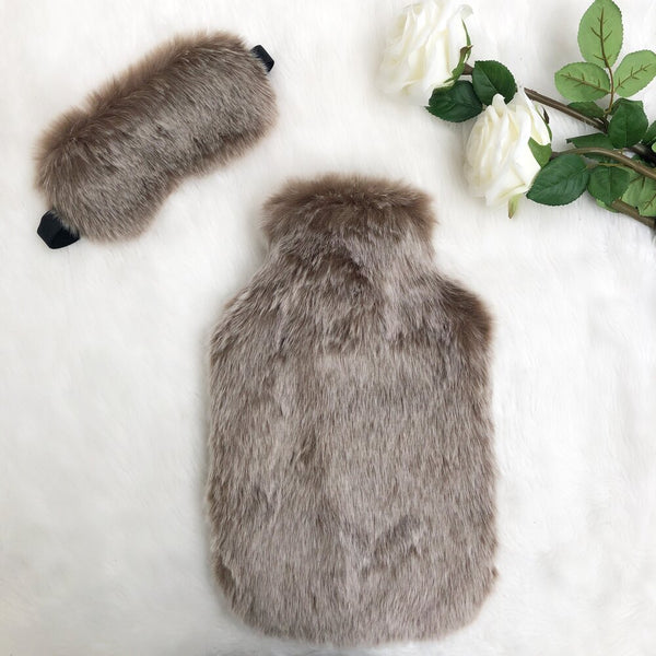 Koala Faux Fur Hot Water Bottle- Options Available