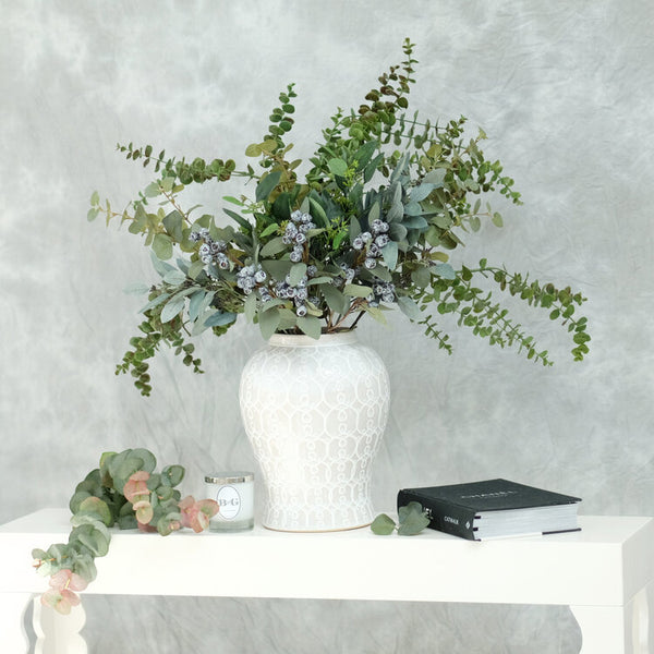 B & G Wild Eucalyptus Berry Flower Arrangement