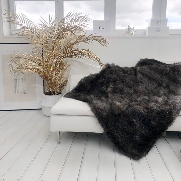 Falcon Speckled Faux Fur Throw