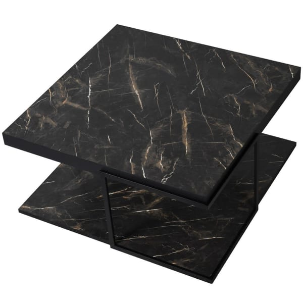 Faux Black Marble Coffee Table