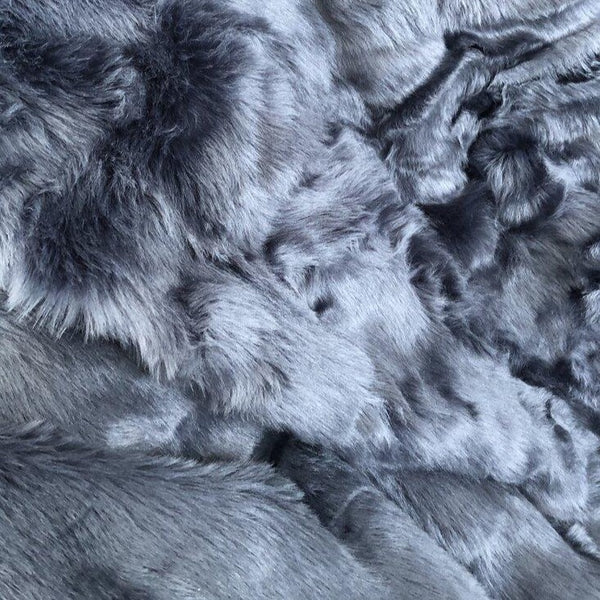 Luxe Blue Faux Fur Throw