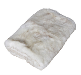 Luxe White Faux Fur Throw