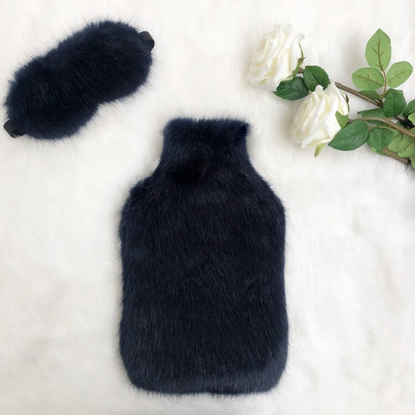 Midnight Luxe Faux Fur Hot Water Bottle - Options Available