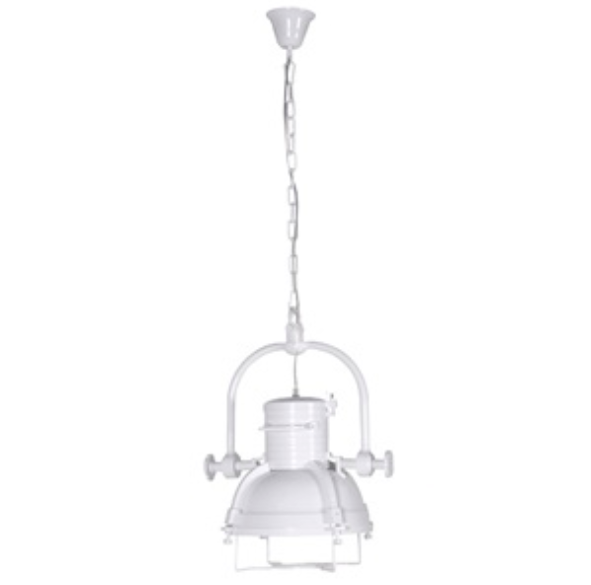 White Industrial Ceiling Light