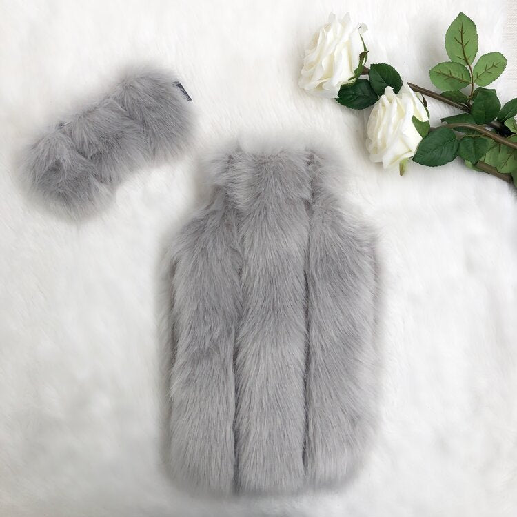 Silver Pelted Luxe Faux Fur Hot Water Bottle - Options Available