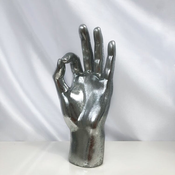 Silver ' OK ' Hand Decoration