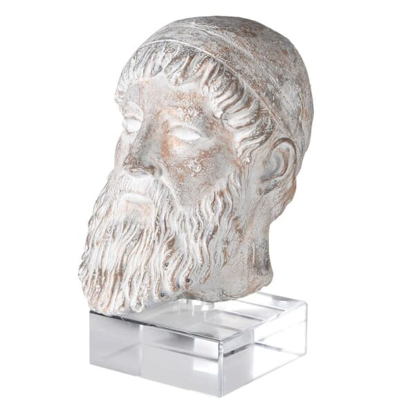 Zeus Bust On Acrylic Stand