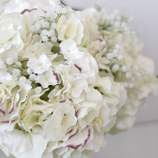 B & G Signature Hydrangea & Gypsophila Arrangement