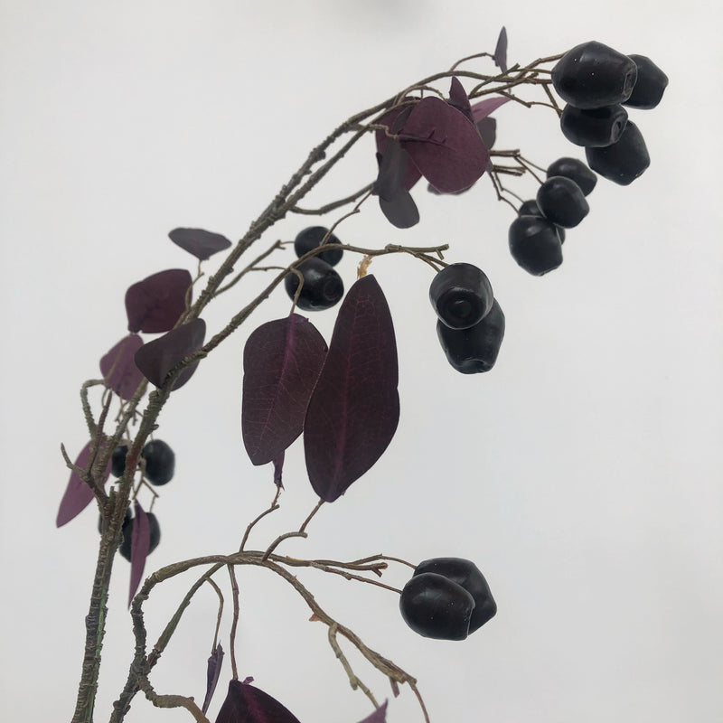 Burgundy berry eucalyptus spray