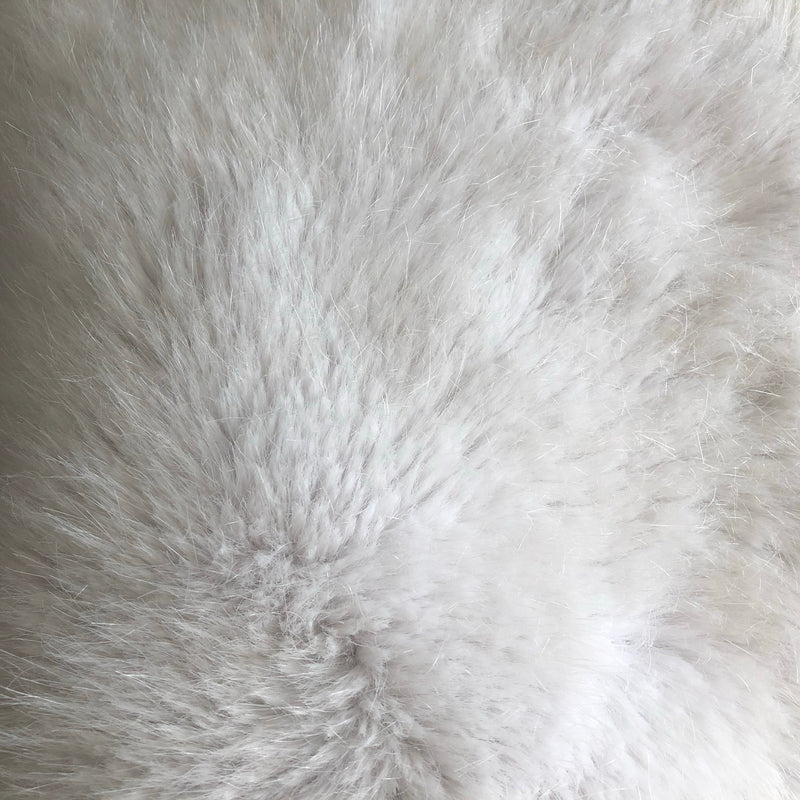 White Luxe Faux Fur Throw