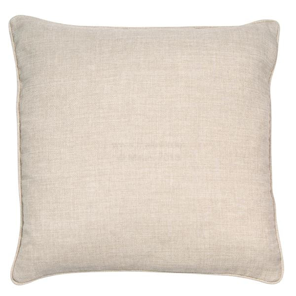 TAUPE LINEN PIPED CUSHION