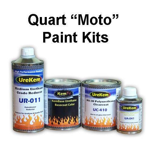 UreChem Two Stage Pearl Basecoat Clearcoat Motorcycle Paint Kit
