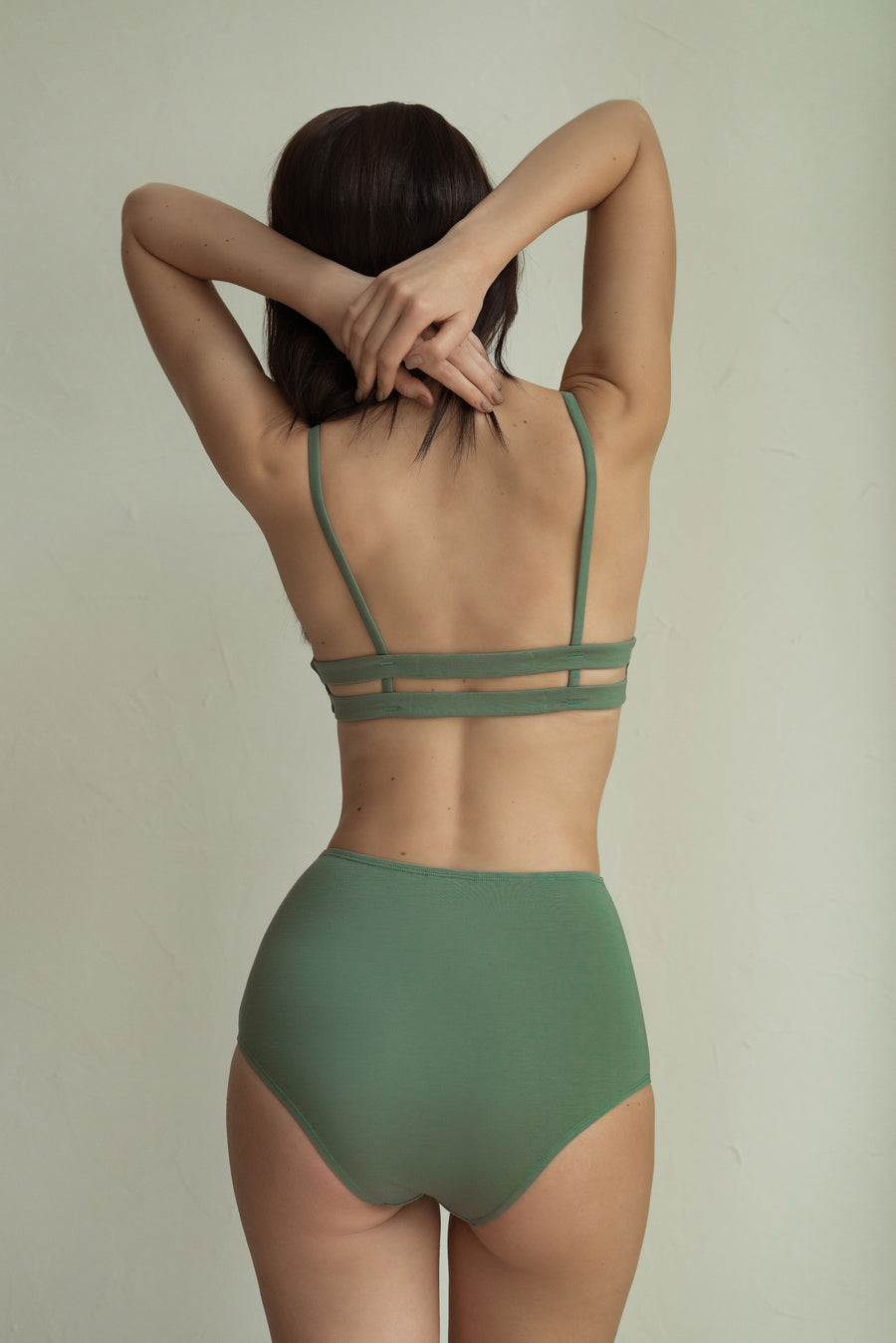 Bamboo High Waist Undies - Sage
