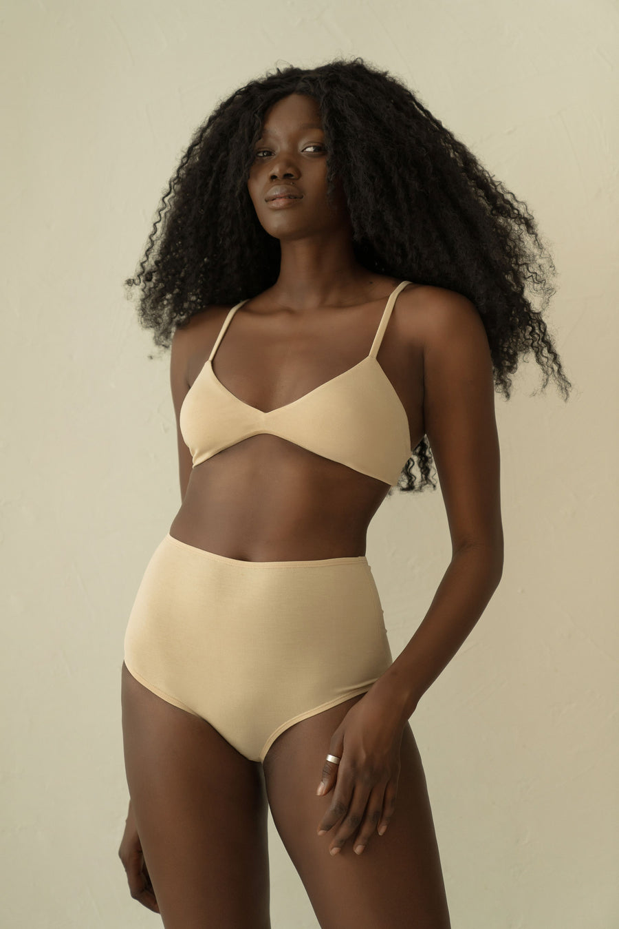 Bamboo High Waist Undies - Natural