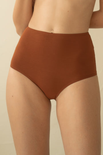 Bamboo High Waist Undies - Cinnamon Apparel & Accessories > Clothing > Underwear & Socks > Underwear GAEA Underwear