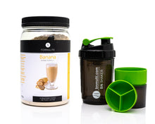 Load image into Gallery viewer, Formulite Meal Replacement Shake Banana Tub & BN Shaker