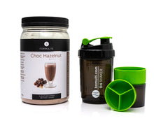 Load image into Gallery viewer, Formulite Meal Replacement Shake Choc Hazelnut Tub & BN Shaker