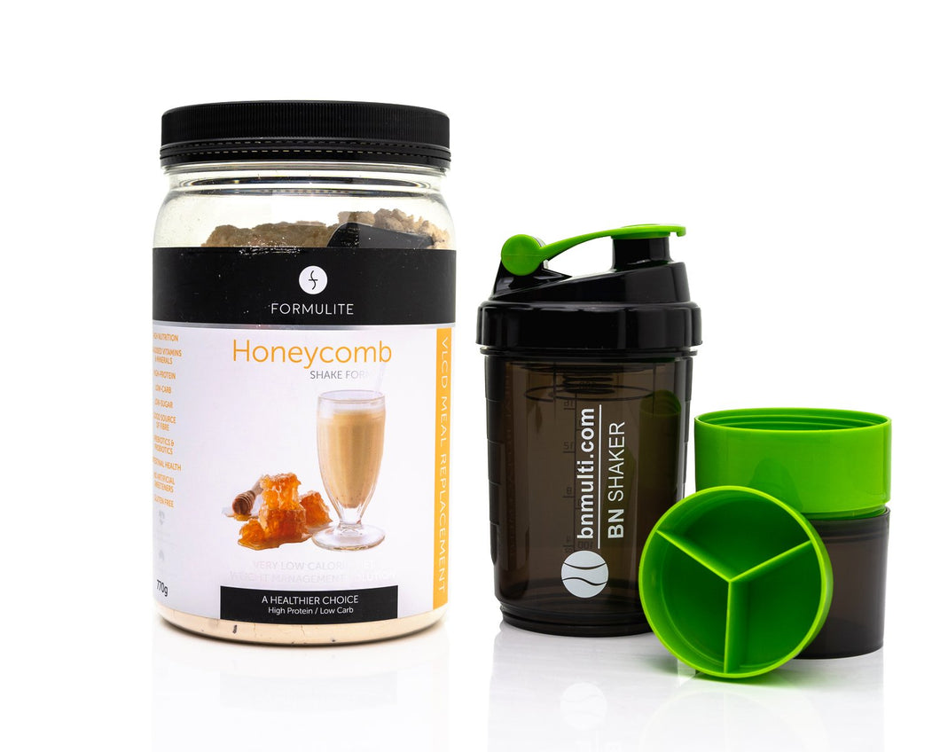 Formulite Meal Replacement Shake Honeycomb Tub & BN Shaker