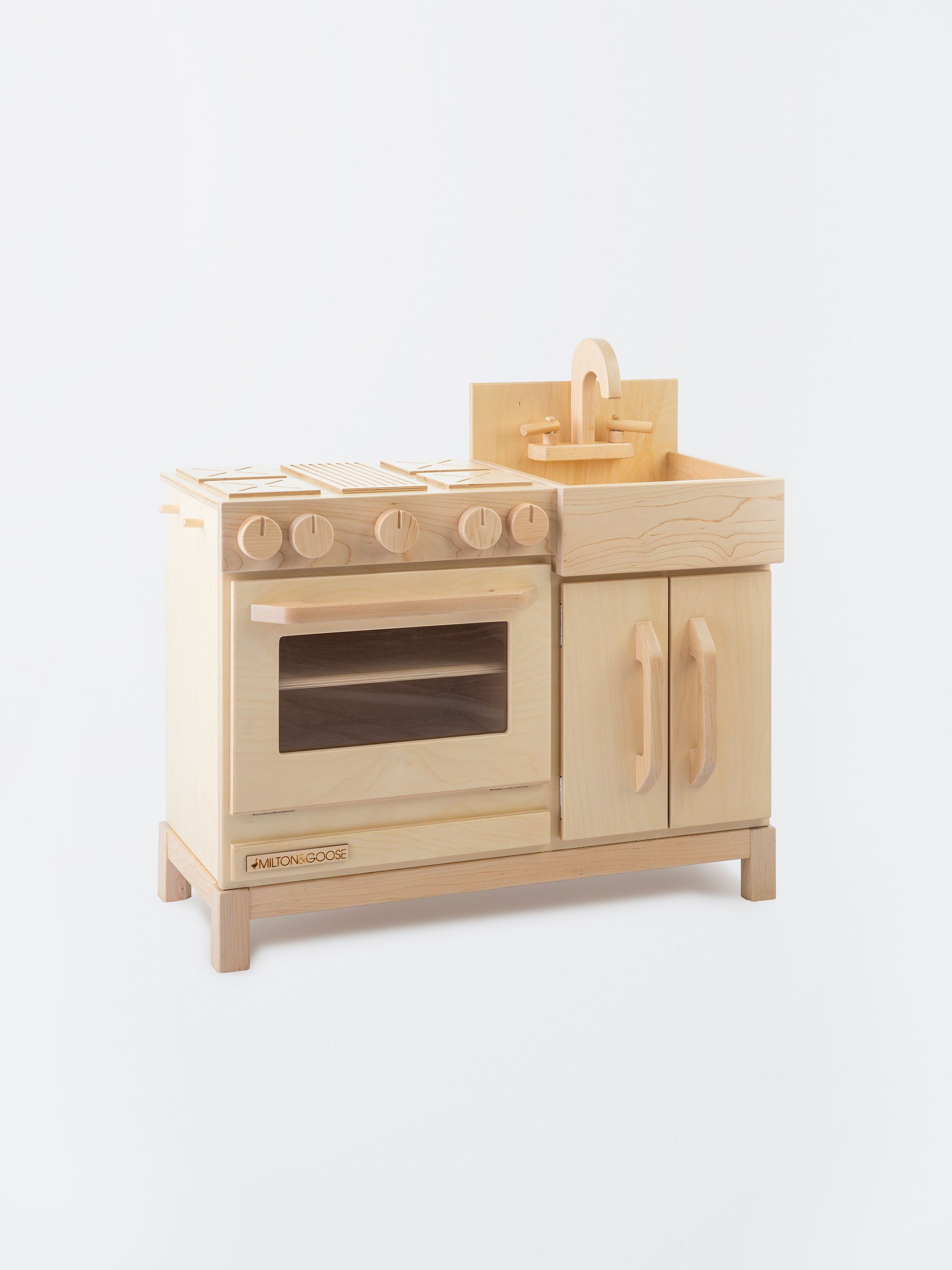 Kids Wooden Essential Play kitchen Natural