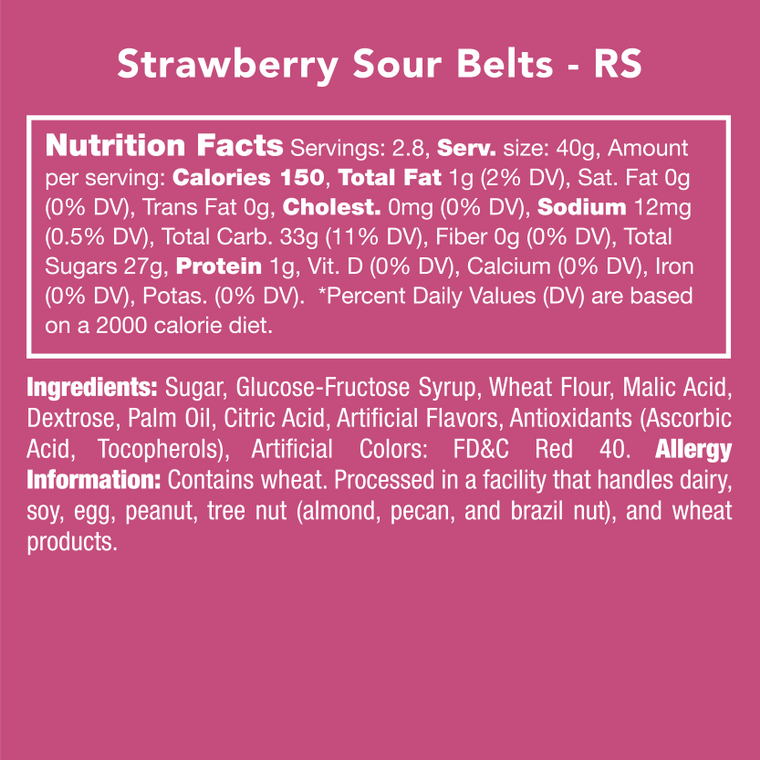 Strawberry Sour Belts