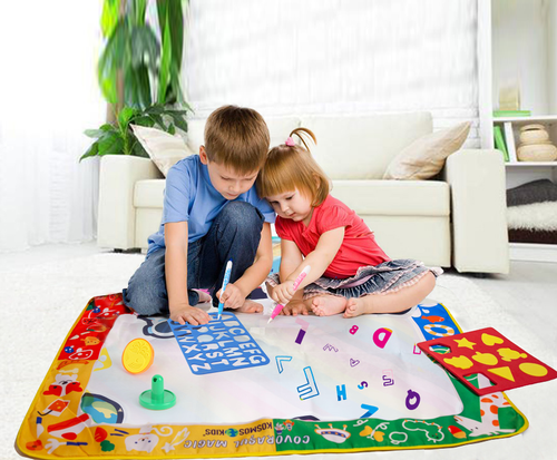 Covorasul Magic KosmosKids -100x70cm - Jucarie educativa de colorat cu apa - Kosmos Kids