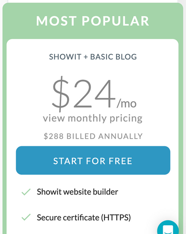how to create a showit website