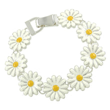 Load image into Gallery viewer, Daisy Flower Magnetic Closured Bracelet