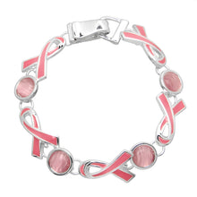 Load image into Gallery viewer, Pink Ribbon Theme Magnetic Closured Bracelet