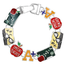 Load image into Gallery viewer, Teacher Theme Magnetic Closured Bracelet