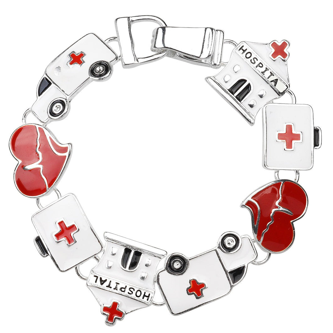 Hospital Theme Magnetic Closured Bracelet