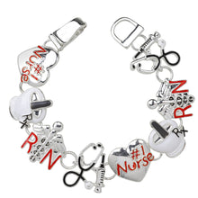 Load image into Gallery viewer, Nurse Theme Magnetic Closured Bracelet