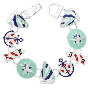 Sailor Theme Magnetic Closured Bracelet