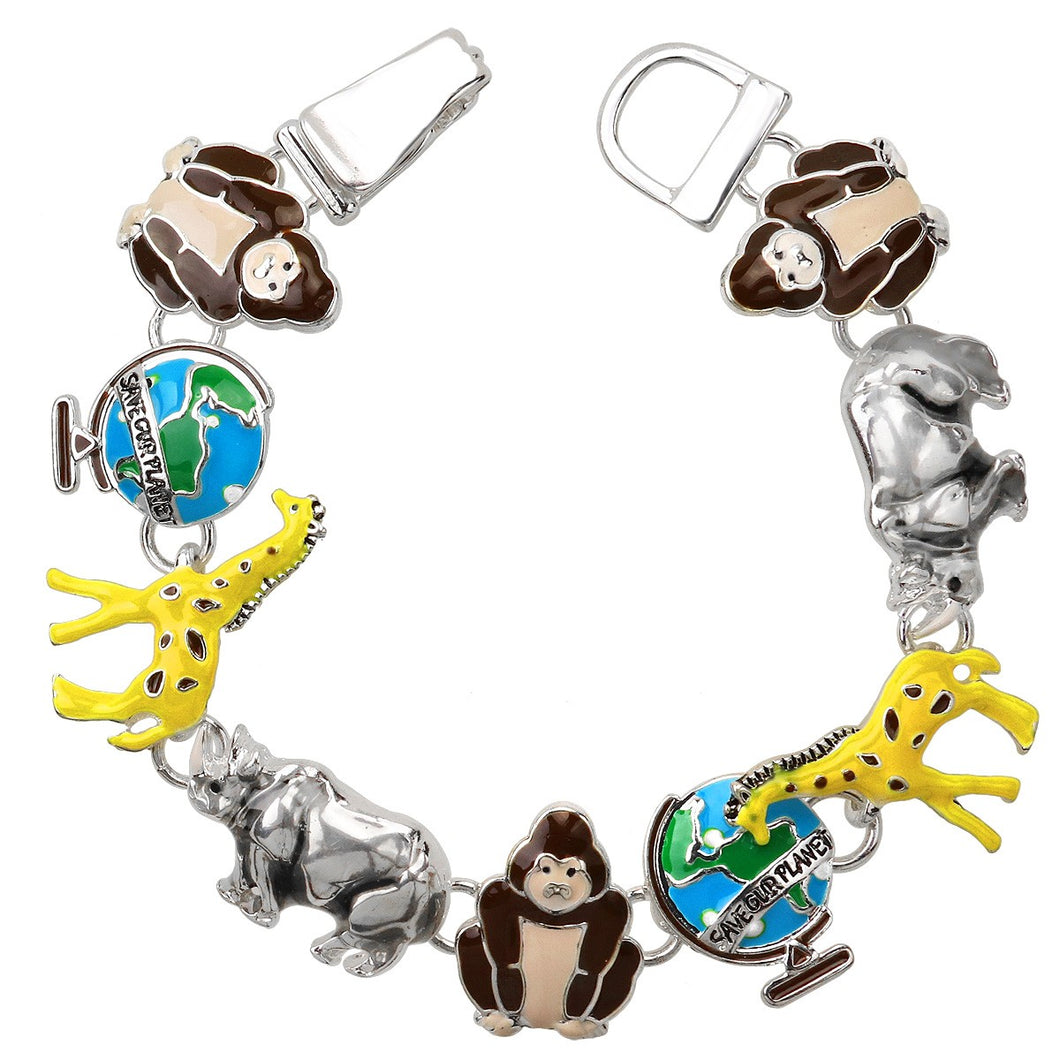 Animal Theme Magnetic Closured Bracelet