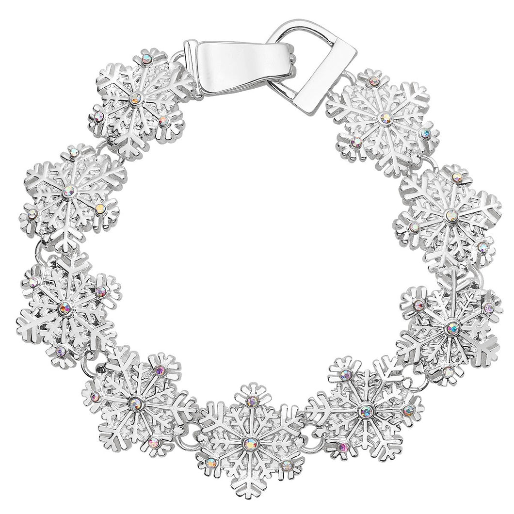 Snowflake Magnetic Closured Bracelet