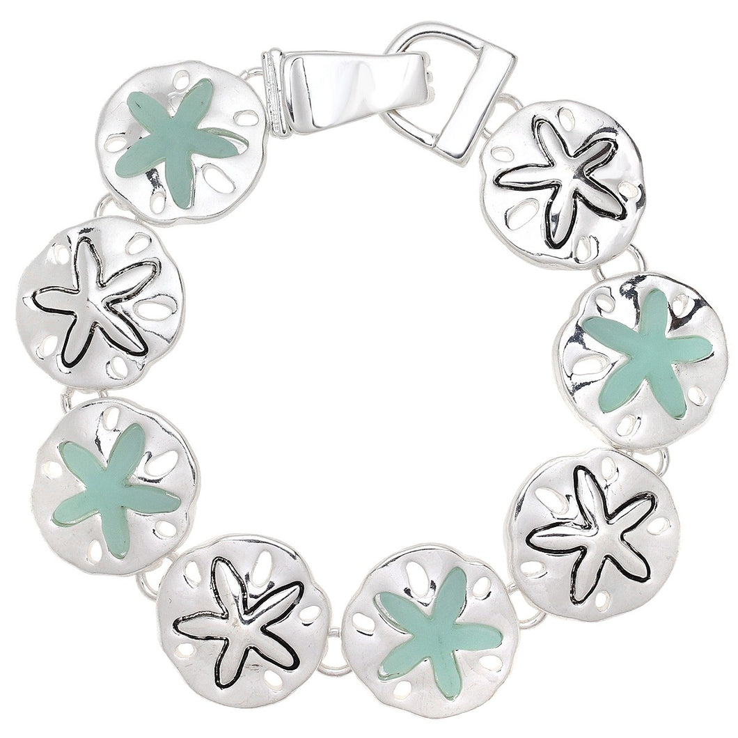 Sand Dollar Magnetic Closured Bracelet