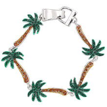 Load image into Gallery viewer, Palm Tree Magnetic Closured Bracelet