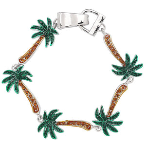 Palm Tree Magnetic Closured Bracelet