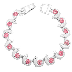 Pink Dolphin Magnetic Closured Bracelet