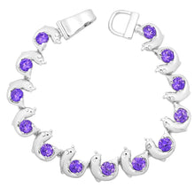 Load image into Gallery viewer, Purple Dolphin Magnetic Closured Bracelet