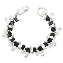 Load image into Gallery viewer, Black & White Cat Magnetic Closured Bracelet
