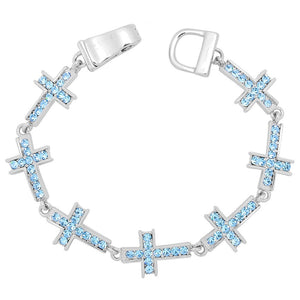 Cross Magnetic Closured Bracelet