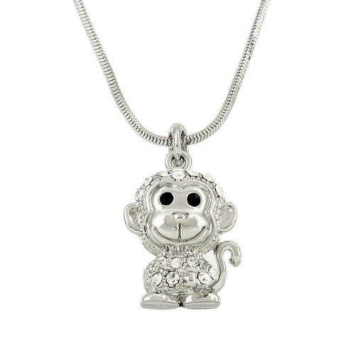 Monkey Pendant Necklace