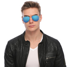 Load image into Gallery viewer, Aviator Sunglasses Classic - Non-Polarized - Gold Frame - Blue/Purple Mirror