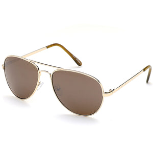 Aviator Sunglasses Classic - Polarized - Gold Frame - Brown