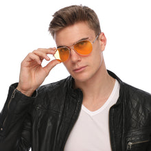 Load image into Gallery viewer, Aviator Sunglasses Classic - Non-Polarized - Gold Frame - Orange