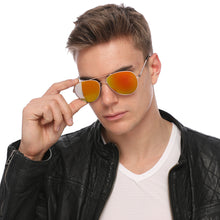 Load image into Gallery viewer, Aviator Sunglasses Classic - Non-Polarized - Gold Frame - Orange/Yellow Mirror