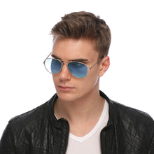 Load image into Gallery viewer, Aviator Sunglasses Classic - Non-Polarized - Gold Frame - Sky Blue