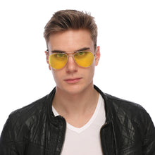 Load image into Gallery viewer, Aviator Sunglasses Classic - Non-Polarized - Gold Frame - Yellow