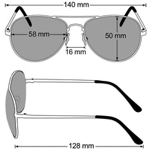 Load image into Gallery viewer, Aviator Sunglasses Classic - Non-Polarized - Silver Frame - Metallic Silver